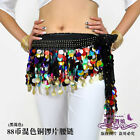 Brand New 88 Coin Belly dance Scarf Belt #EF