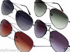 Retro Vintage Aviator Sunglasses Graduated Tint Lens