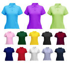 Ladies Pique Polo T Shirts in 14 Colours Size 8 to 22 - LEISURE SPORTS / PD106