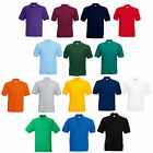 3 FRUIT OF THE LOOM PLAIN POLO SHIRTS 14 COLS ALL SIZES
