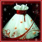 Reds Whites Christmas Weddong Flowers Girls Party Dresses AGE 2-3-4-5-6-7-8-10Y