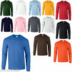 2 GILDAN PREMIUM LONG SLEEVED T SHIRTS 14 COLOURS S-XXL
