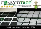 ADHESIVE STICKY SQUARES HOOK LOOP BLACK WHITE
