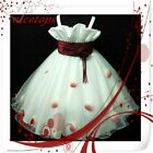 Red Girl Bridesmaid Dress Up Costume SZ 2-3-4-5-6-7-8-9