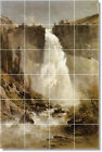 S-M-L-XL Thomas Hill Waterfalls Painting Ceramic Bathroom Shower Tile Murals