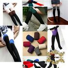 New 2 Tone Color Over the Knee High Fashion Long Socks SZ 9-11 *Free Shipping*