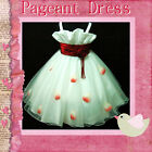 R818 Red White Christmas Wedding Flower Girls Pageant Dresses SZ 2-3-4-5-6-7-8-9