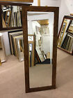 """NEW LONG 3"""" MODERN FLAT WALNUT STAINED SOLID OAK FULL LENGTH DRESSING MIRRORS"""