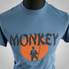 Monkey Magic (Blue) TV Themed Retro T Shirt Martial Arts Kung Fu Cult