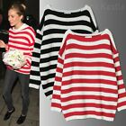 Anna Kastle New Womens Oversized Fit Stripe Pullover Sweater Top size S - M