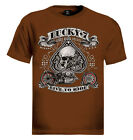 Lucky 7 T-Shirt Bikes booze broads live to ride choppers bikers USA skull spade