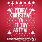 womens ugly christmas sweater t shirt reindeer holiday vintage snow pattern tee
