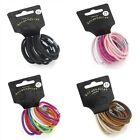 Set of 14 Thick Coloured Hair Elastics Bobbles Hair Bands - Hair Accessories
