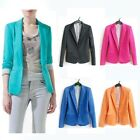 E1 Women Suit Blazer Turn Back Cuff Jacket Size XS,S,M,L 4colors