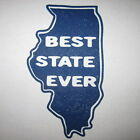 Illinois best state ever funny novelty chicago college sports football t shirt