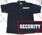 Black Polo Shirt  Staff  Police  Business  Security  100% Cotton  S - 2XL
