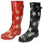 Joblot Wholesale Ladies Star Print Wellingtons   UK Sizes 3-8 x14pairs   X1044