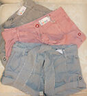PRIMARK SIZE 6/8/10/12 BLUE / WHITE / RED / BROWN STRIPED NAUTICAL SHORTS  BNWT