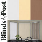 "Replacement Vertical Blind Slat 89mm (3.5"") Plain Colours WHITE, CREAM or MOCHA"