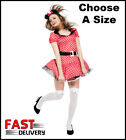 Sexy Minnie Mini Mouse Ladies Fancy Dress Costume Women Medium Large
