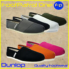 New Flats Slip-on Canvas Trainers Sneakers Plimsolls Pumps Shoes Espadrilles UK