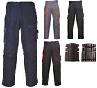 "Portwest Contrast Cargo Combat Trousers Workwear Mens Waist 30/44"" Kneepad Offer"