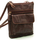 New Genuine Leather Crossbag Messenger Shoulder Bag Passport Tavel Purse 9972