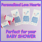 Personalised  LOVE HEART sweets for your BABY SHOWER - Party favours for all...