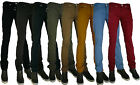 MENS CHINO TWILL ZICO SKINNY JEANS SAND GREY ROYAL BLUE SKY BLUE MUSTARD RED