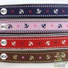 "5 metres anchors blue/pink/red/brown Grosgrain RIBBON 3/8""(9mm)"