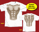 Mens Adult Muscle T Shirt with piercing