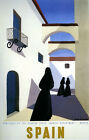 Madrid  Spain Spanish Nun Tourism Travel Vintage Trip Poster Repro FREE S/H
