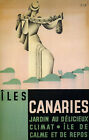 Canary Islands Spain Archipelago Travel Tourism Vintage Poster Repro FREE S/H