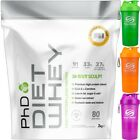 PhD Nutrition Diet Whey Protein 2kg - All Flavours + Smart Shaker