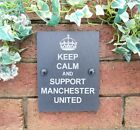 Funny Keep Calm And Carry On Football Slate Wall Door Sign Plaque Ideal Gifts
