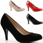 Womens Work Smart Wedding Court Shoes Pumps Stiletto Low Mid Kitten Heel Size