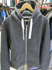 URBAN DIVA UNISEX CHAR GREY PLAIN HOODED ZIP UP HIPHOP JACKET HOODIES 16 18 20