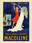 Fashion Lady Washing Clothes Macolline French Vintage Poster Repro FREE S/H