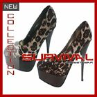 NEW SEXY WOMENS SIZE 6,7,8 SHOES HIGH HEELS PUMPS PARTY CLUB STILETTOS LEOPARD