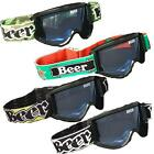 BEER OPTICS OFFROAD TINTED GOGGLES ATV MX DIRTBIKE EYEWEAR EYE PROTECTION