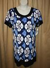 Womans Helene Blake Size 1X or 2X Short Sleeve Dress Stretch Round Neck Line NEW