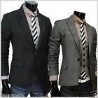 THELEES (NJK2) Mens unbalance 1 button Fitted jacket 2 COLOR