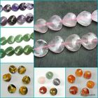 6× 16mm natural round twisted gemstone beads for jewellery DIY