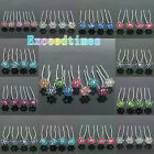 6 10 20pcs Swarovski Crystal Wedding Bridal Prom Flower Hair Pin Clips 12 Colors