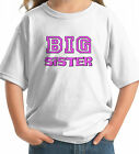 BIG SISTER personalized childrens T SHIRT white grey pink