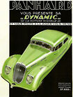 Green Panhard Dynamic Fashion Car France French Vintage Poster Repro FREE S-H