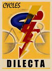 Bicycle Race Sport Cycles Bike Dilecta Fashion Vintage Poster Repro FREE S/H