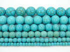Howlite Turquoise Gemstone Round Loose Beads 15'' 4mm 6mm 8mm 10mm 12mm 14mm