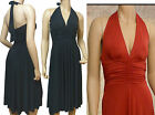 Halter Neck Evening Dress UK Size 10 - 22 (D1032)