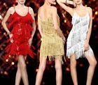 Sexy Lady Evening Party Cocktail Dance Club Latin Bling Sequin Fringe Dress 381
